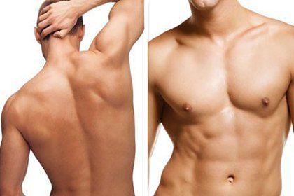 Laser αποτρίχωση σε όλο το σώμα για άνδρες